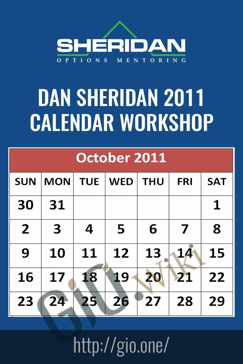 2011 Calendar Workshop - Dan Sherid
