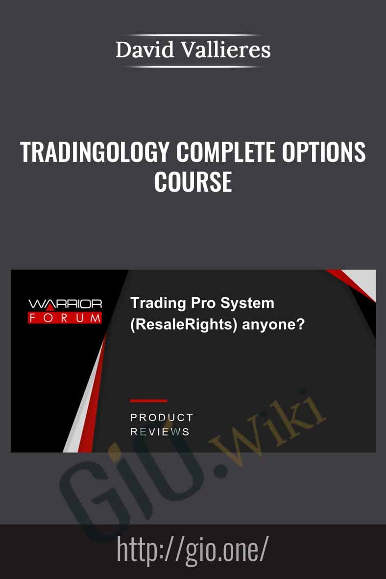 Tradingology Complete Options Course - David Vallieres