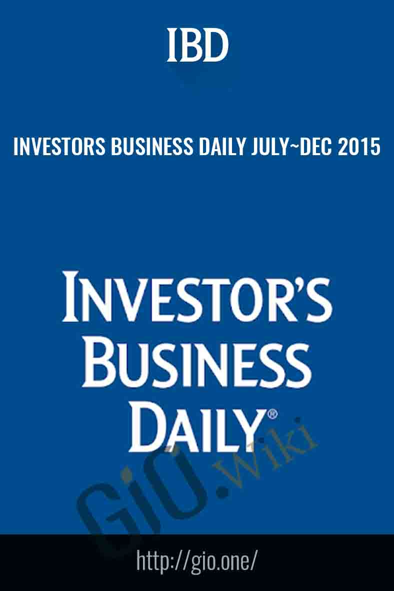 Investors Business Daily July~Dec 2015