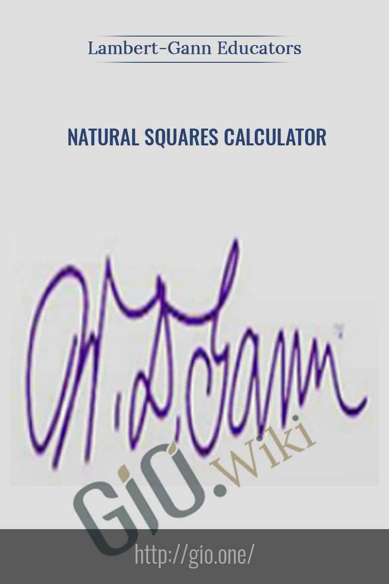 Only $34, Course Natural Squares Calculator (Based on W D
