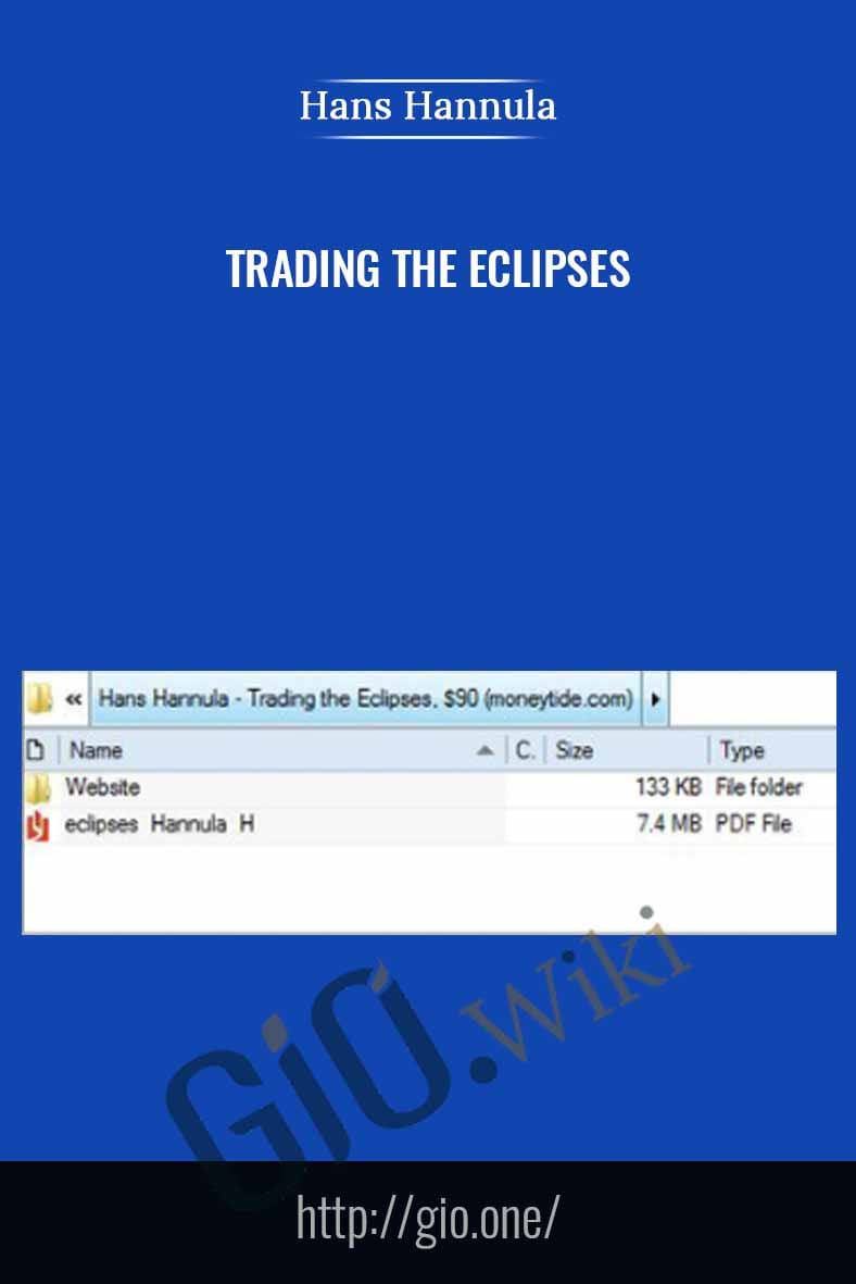 Trading the Eclipses - Hans Hannula