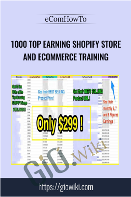 1000 Top Earning Shopify Store and eCommerce Training - eComHowTo