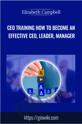 CEO training How to become an effective CEO, Leader, Manager – Elizabeth Campbell