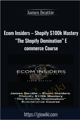 "Ecom Insiders – Shopify $100k Mastery ""The Shopify Domination"" Ecommerce Course –  James Beattie"