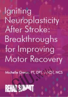 Igniting Neuroplasticity after Stroke: Breakthroughs for Improving Motor Recovery - Michelle Green