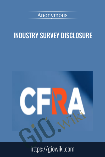 Industry Survey Disclosure