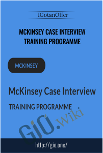 McKinsey Case Interview Training Programme - IGotanOffer
