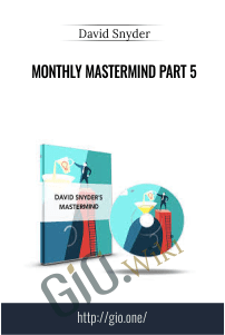 Monthly MasterMind Part 5 – David Snyder