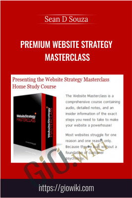 Premium Website Strategy Masterclass – Sean D Souza
