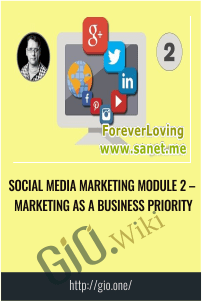 Social Media Marketing Module 2 – Marketing As A Business Priority