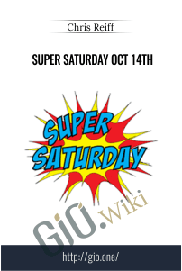 Super Saturday Oct 14th – Chris Reiff