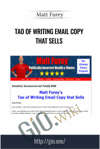 Tao of Writing Email Copy that Sells – Matt Furey