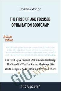 The Fired Up and Focused Optimization Bootcamp – Joanna Wiebe
