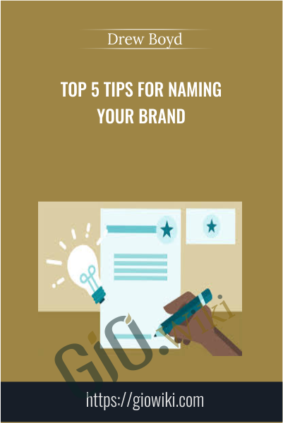 Top 5 Tips for Naming Your Brand - Drew Boyd