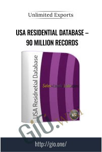 USA Residential Database – 90 Million records – Unlimited Exports