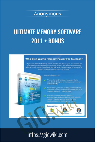 Ultimate Memory Software 2011 + Bonus