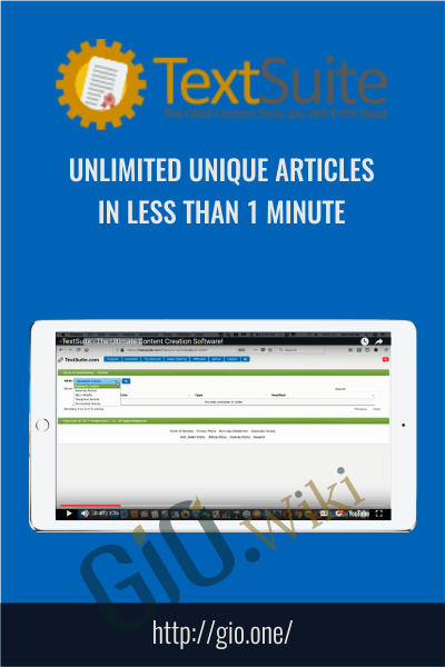 Unlimited Unique Articles In Less Than 1 Minute - Text Suite