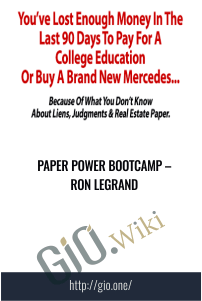 Paper Power Bootcamp – Ron Legrand