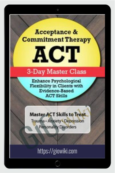 Acceptance & Commitment Therapy (ACT): 3-Day Master Class - Jennifer Patterson