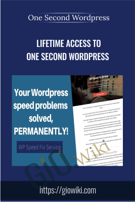 Lifetime Access to One Second Wordpress - One Second Wordpress