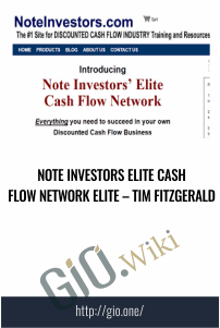 Note Investors Elite Cash Flow Network Elite – Tim Fitzgerald