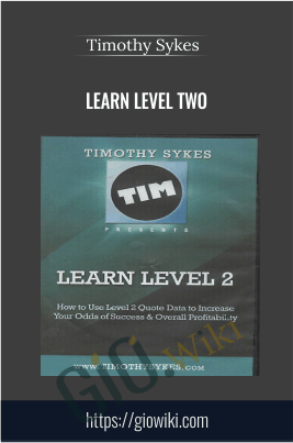 Learn Level Two - 4 DVDs + 2010 Workbook - Timothy Sykes