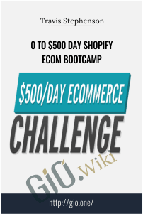 0 To $500 Day Shopify eCom Bootcamp – Travis Stephenson