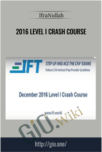 2016 Level I Crash Course –  IfraNullah