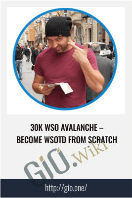 30K WSO Avalanche – Become WSOTD from Scratch