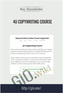 4U Copywriting Course – Ray Mondduke