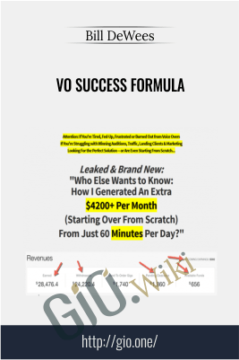 VO Success Formula – Bill DeWees