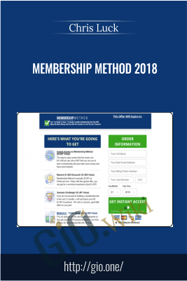 Membership Method 2018 – Chris Luck