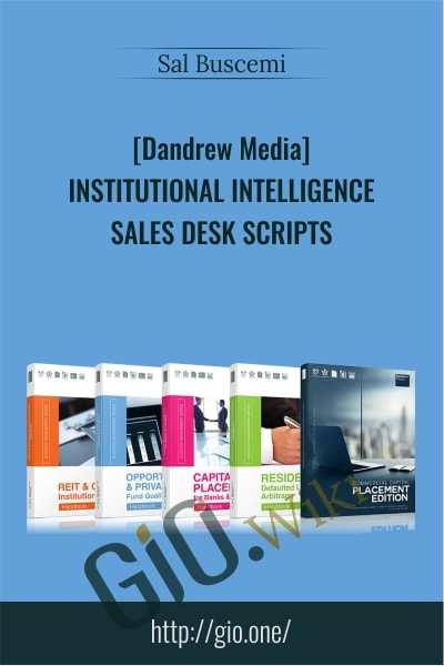 Institutional Intelligence - Sales Desk Scripts - Sal Buscemi