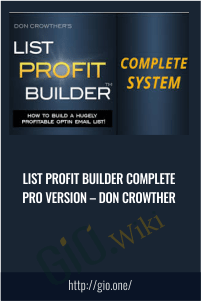 List Profit Builder Complete PRO Version – Don Crowther
