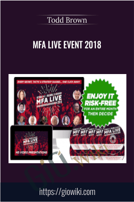 MFA Live Event 2018 – Todd Brown