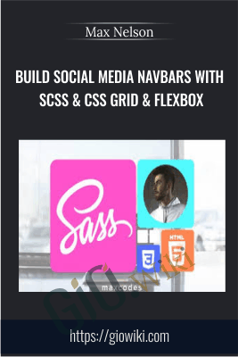 Build Social Media Navbars with SCSS & CSS Grid & FlexBox - Max Nelson