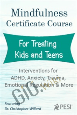 Mindfulness Certificate Course for Treating Kids and Teens: Interventions for ADHD, Anxiety, Trauma, Emotional Regulation and More - Christopher Willard