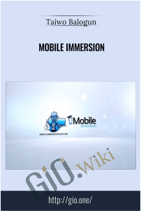 Mobile Immersion – Taiwo Balogun