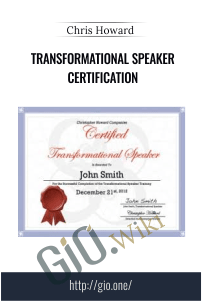 Transformational Speaker Certification – Chris Howard