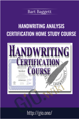 Handwriting Analysis Certification Home Study Course – Bart Baggett