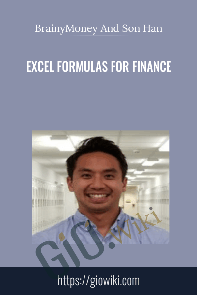 Excel Formulas for Finance - BrainyMoney And Son Han