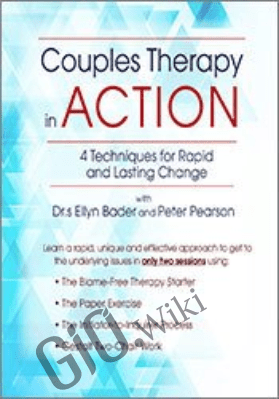 Couples Therapy in Action: 4 Techniques for Rapid and Lasting Change with Drs. Ellyn Bader and Peter Pearson - Ellyn Bader &  Peter Pearson, Ph.D.