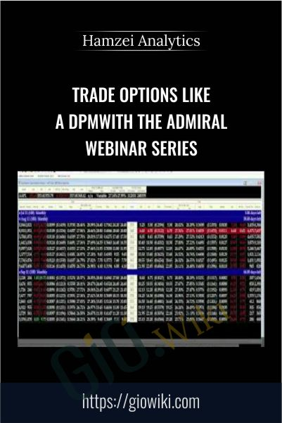 Trade Options Like A DPM With The Admiral Webinar Series – Hamzei Analytics