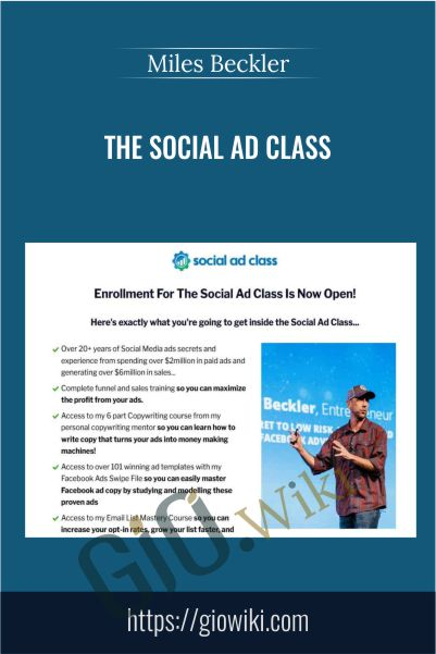The Social Ad Class - Miles Beckler