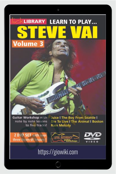 Learn to play Steve Vai Volume 3 (2 DVD set) - Andy James