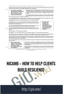 nicamb – How to Help Clients Build Resilience