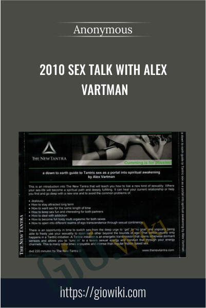 2010 Sex Talk With Alex Vartman