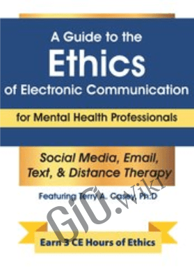 A Guide to the Ethics of Electronic Communication for Mental Health Professionals *Pre-Order* - Terry Casey