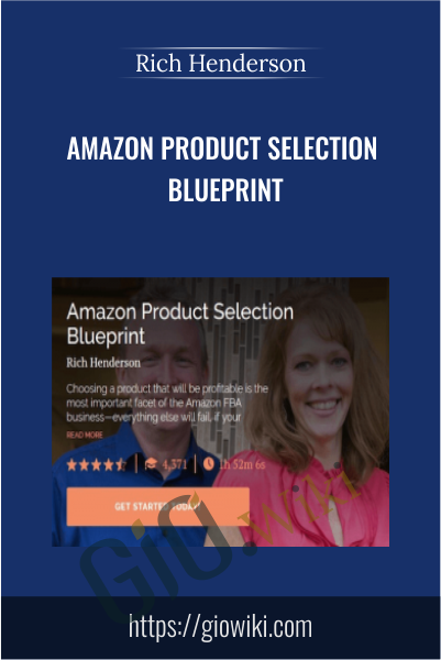 Amazon Product Selection Blueprint - Rich Henderson