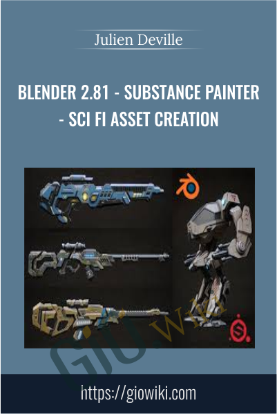Blender 2.81 - Substance painter - Sci fi asset creation -  Julien Deville